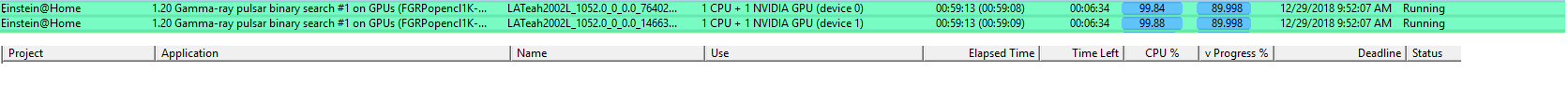 Einstein usage on xeon with nvidia